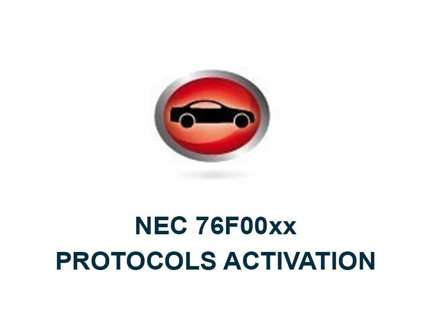 NEC 76F00xx Protocols Activation